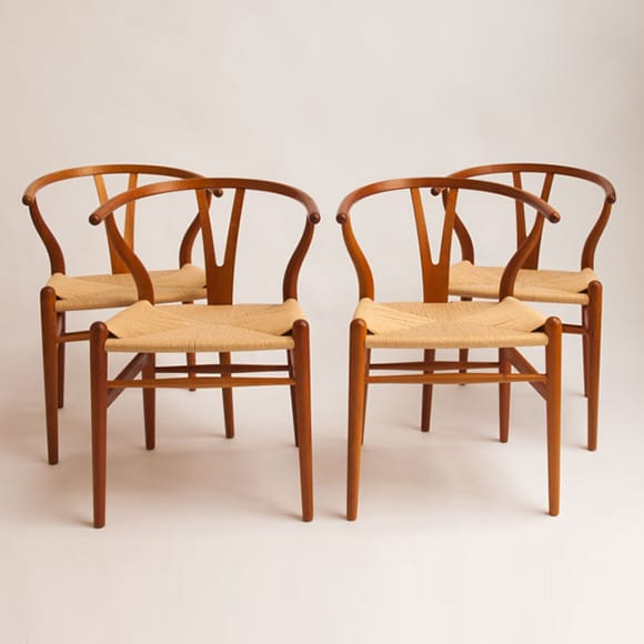 Wishbone chairs anniversary model, set of 4 - 3 sold!