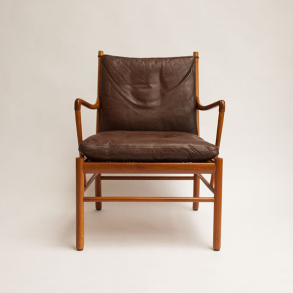 The Colonial Chair, Brown Leather