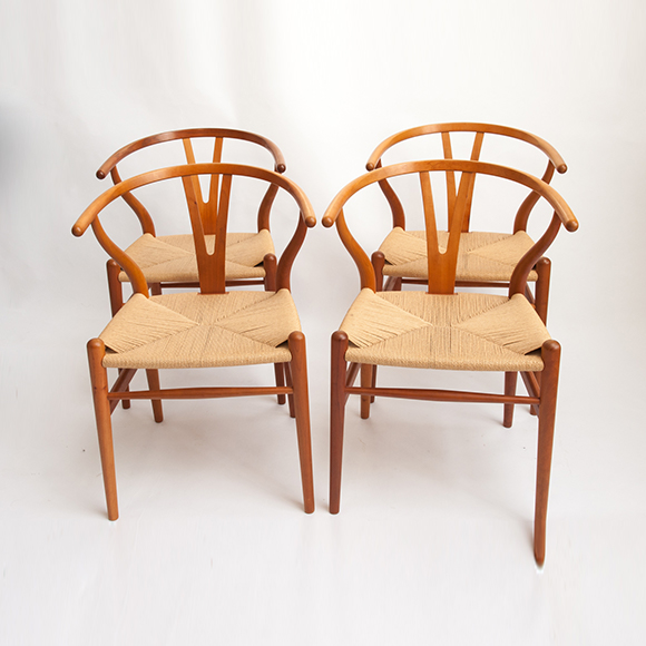 Wishbone chairs, model CH 24