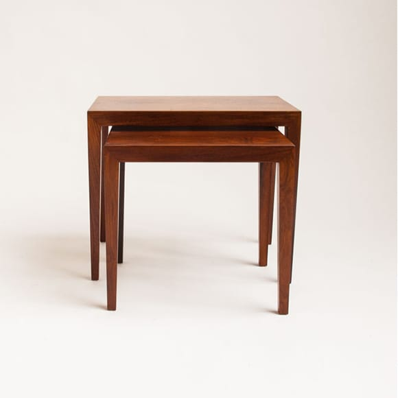 Pair of Brazilian rosewood nesting tables