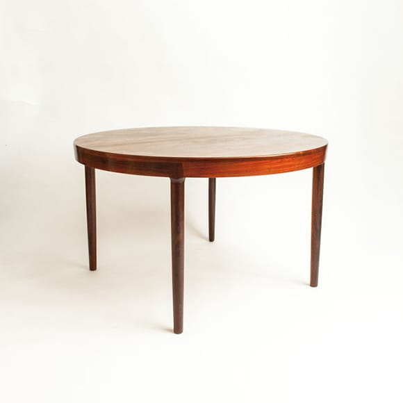 Rosewood dining table with extension (3)